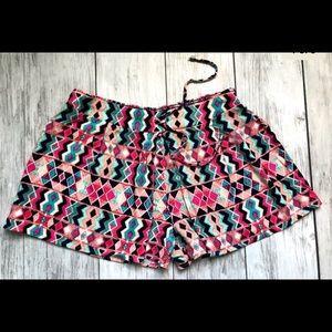 ELLA MOSS Rayon Aztec Inca Shorts